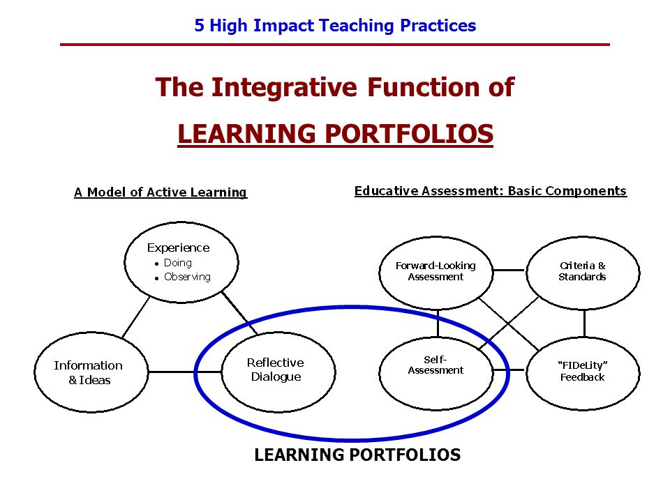 5 High Impact Teaching Practices The Integrative Function of LEARNING PORTFOLIOS