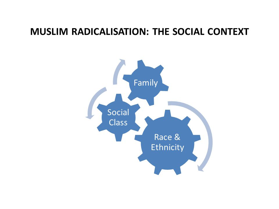MUSLIM RADICALISATION: THE SOCIAL CONTEXT Race & Ethnicity Social Class Family