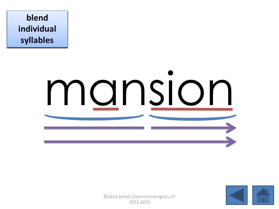 cau tionmansionno tiontension fu sionsectiontractionver sion missionlo tionsessionauction ©Davis School District Farmington, UT 2012-2013