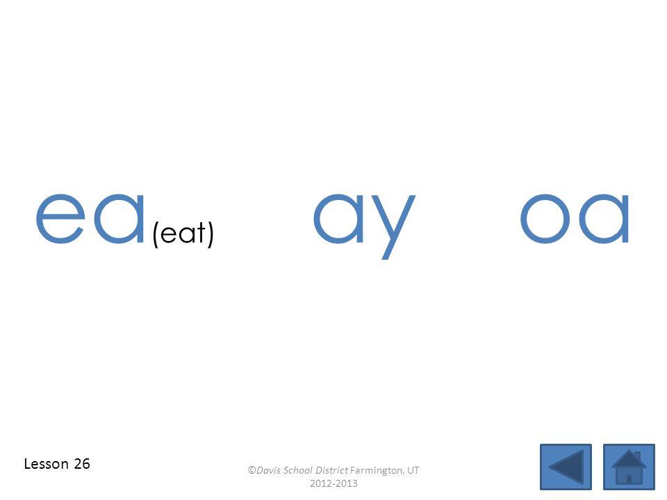 blend individual syllables identify vowel patterns reach blend together identify vowel patterns blend individual syllables ©Davis School District Farmington, UT 2012-2013