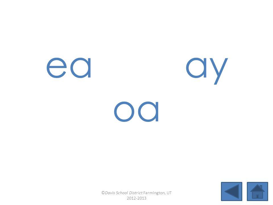 ow (snow) igh -e-a (open syllables) Lesson 27 ©Davis School District Farmington, UT 2012-2013