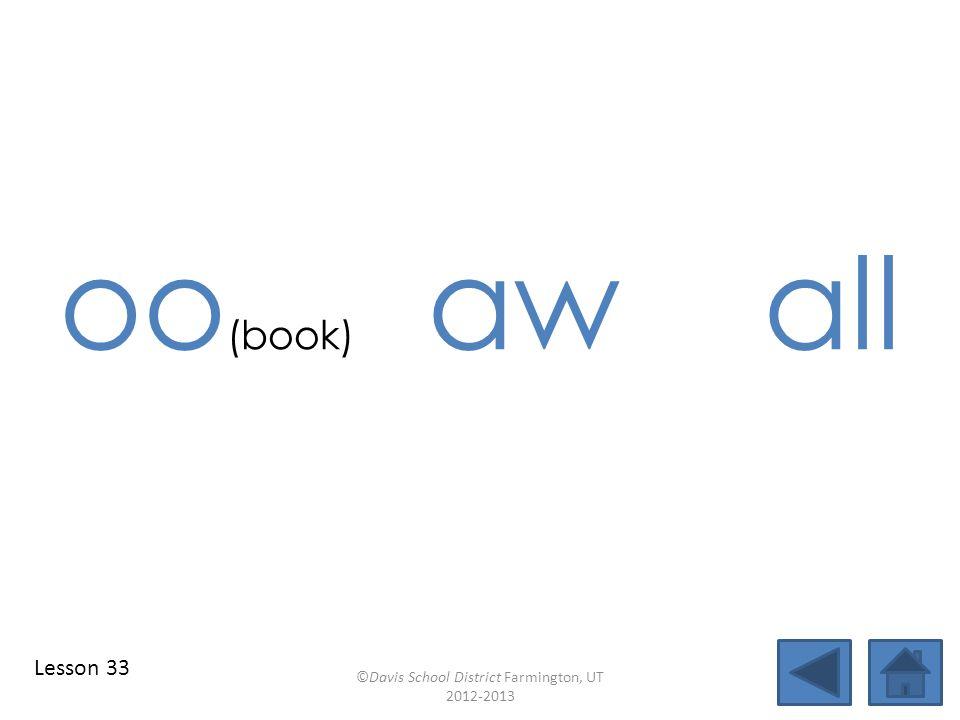 blend individual syllables identify vowel patterns look blend together identify vowel patterns blend individual syllables ©Davis School District Farmington, UT 2012-2013