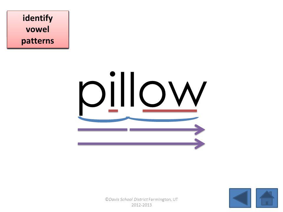 boat pillowblowsoap caseloadtowroperoadmapsnowman minnowelbowcoatrackrailroad ©Davis School District Farmington, UT 2012-2013