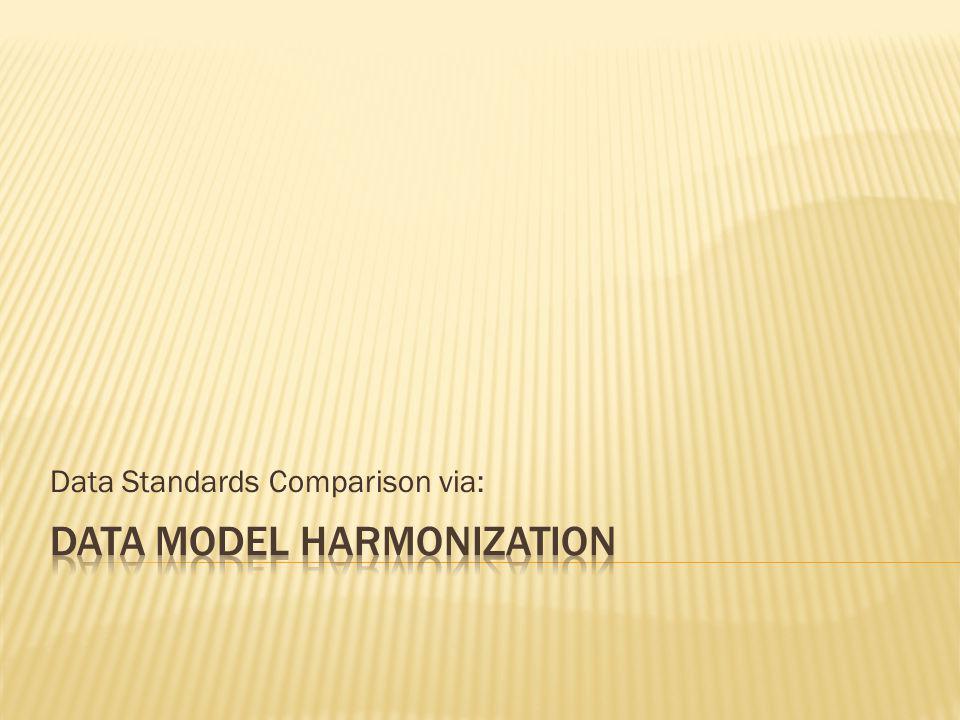Data Standards Comparison via: