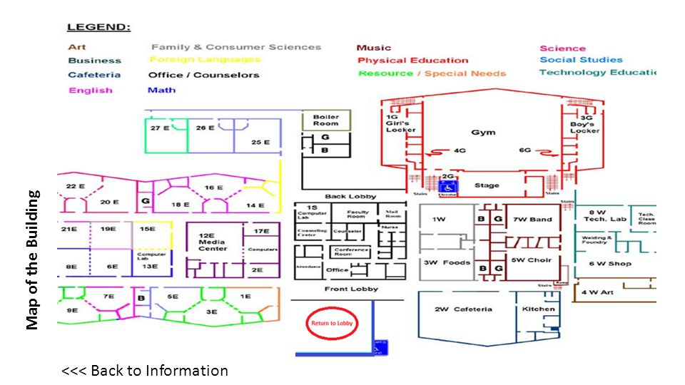 Map of the Building <<< Back to Information