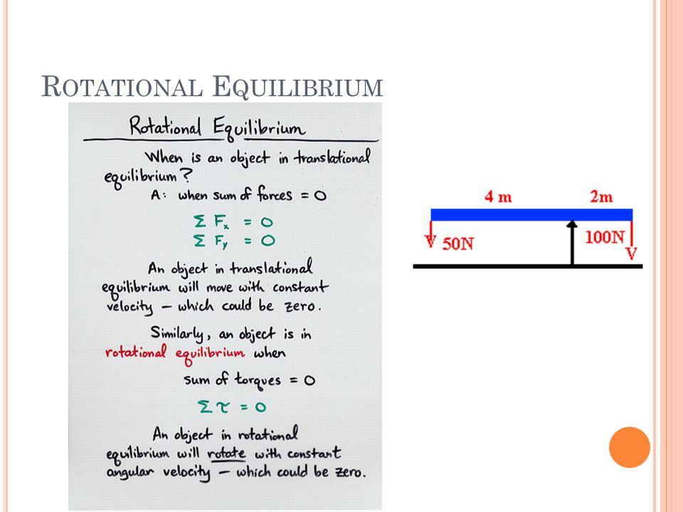R OTATIONAL E QUILIBRIUM