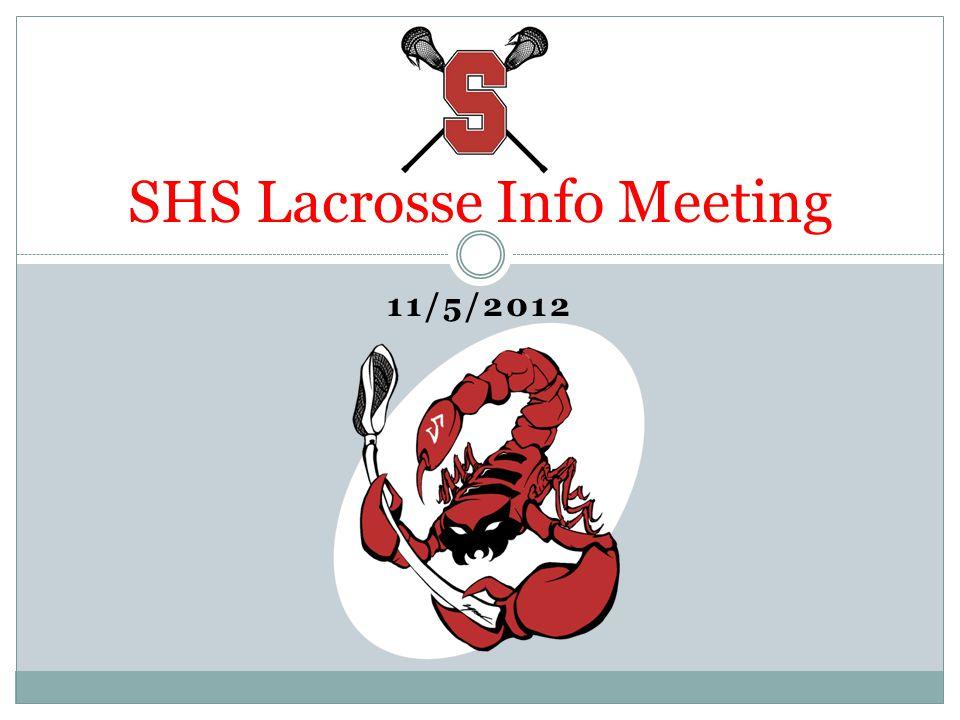 11/5/2012 SHS Lacrosse Info Meeting
