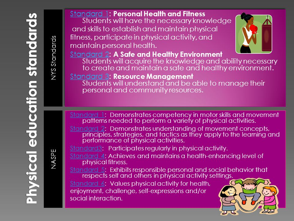Promote overall physical wellbeing Promote physiological benefits such as increased flexibility, improved circulation, general improvement of body composition and muscle development, better posture, balances and coordination.