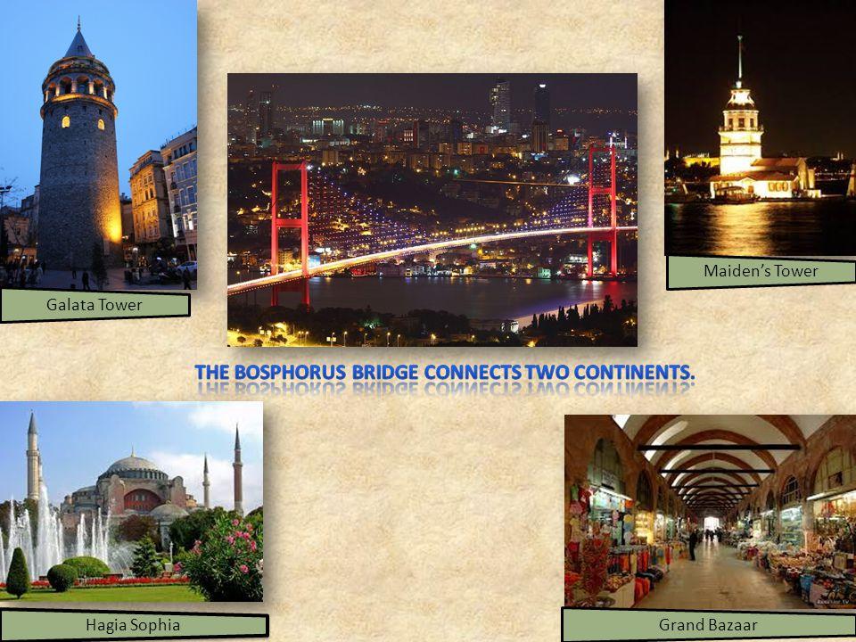 Maidens Tower Hagia Sophia Galata TowerGrand Bazaar