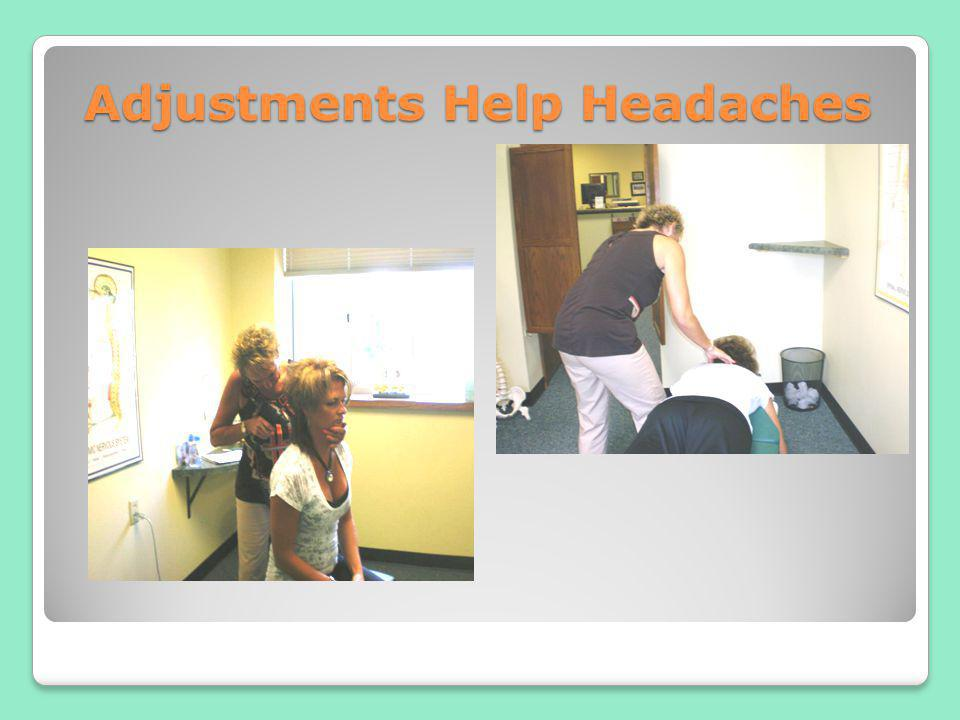 Adjustments Help Headaches