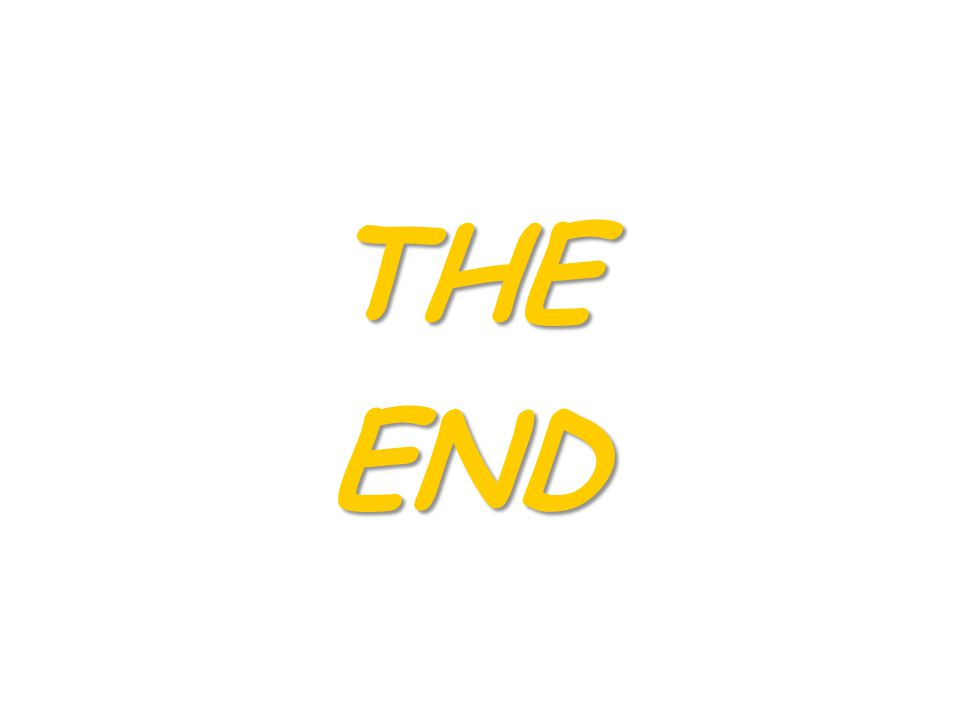 THE END END
