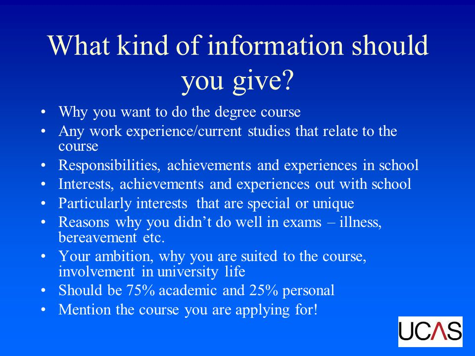What kind of information should you give.