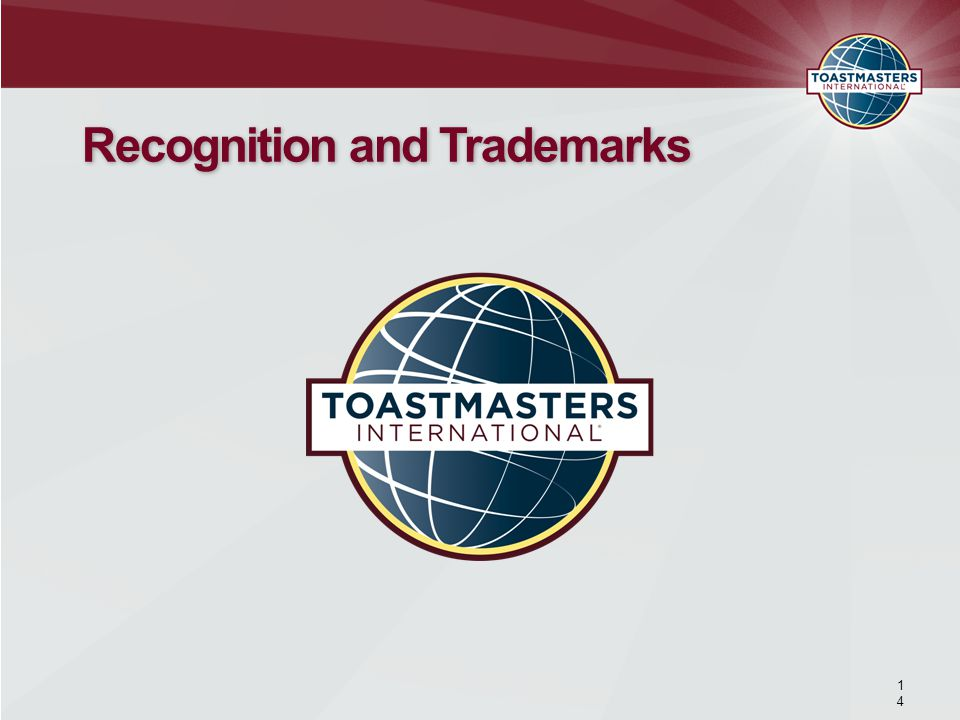 Recognition and Trademarks 1414