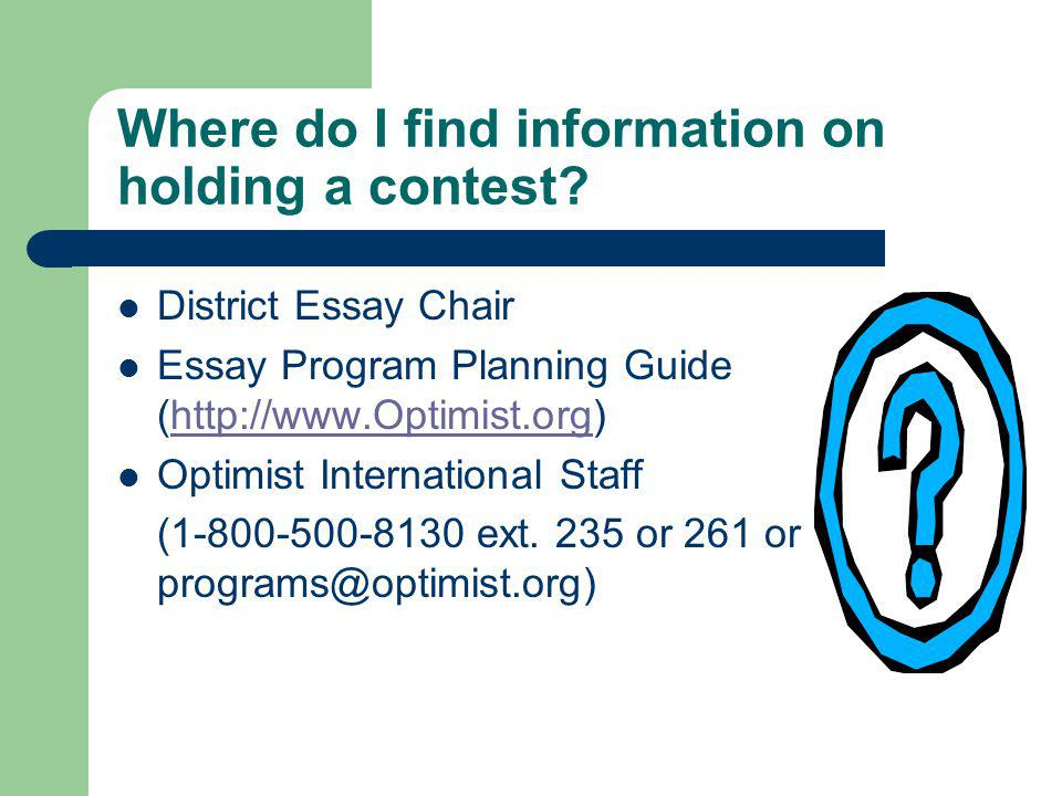 Where do I find information on holding a contest.