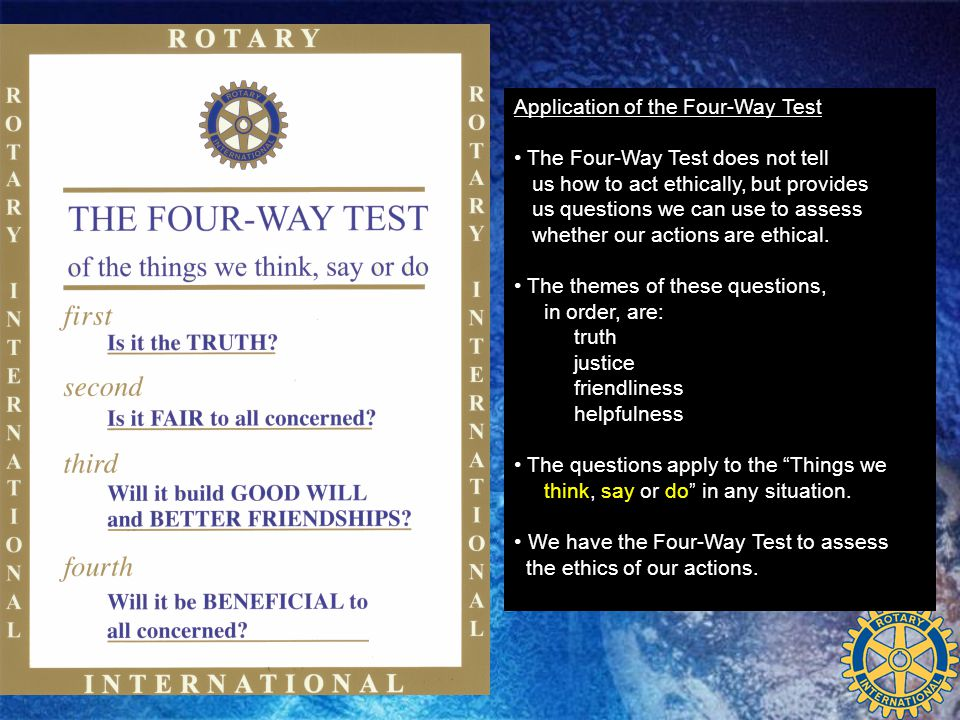 Thanks to the following contributors: We gratefully acknowledge the contribution of content from various Rotary organizations from across the country in assembling this Presentation for the Four Way Speech Contest.