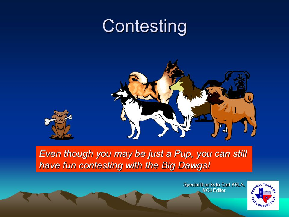 Why enter a contest.