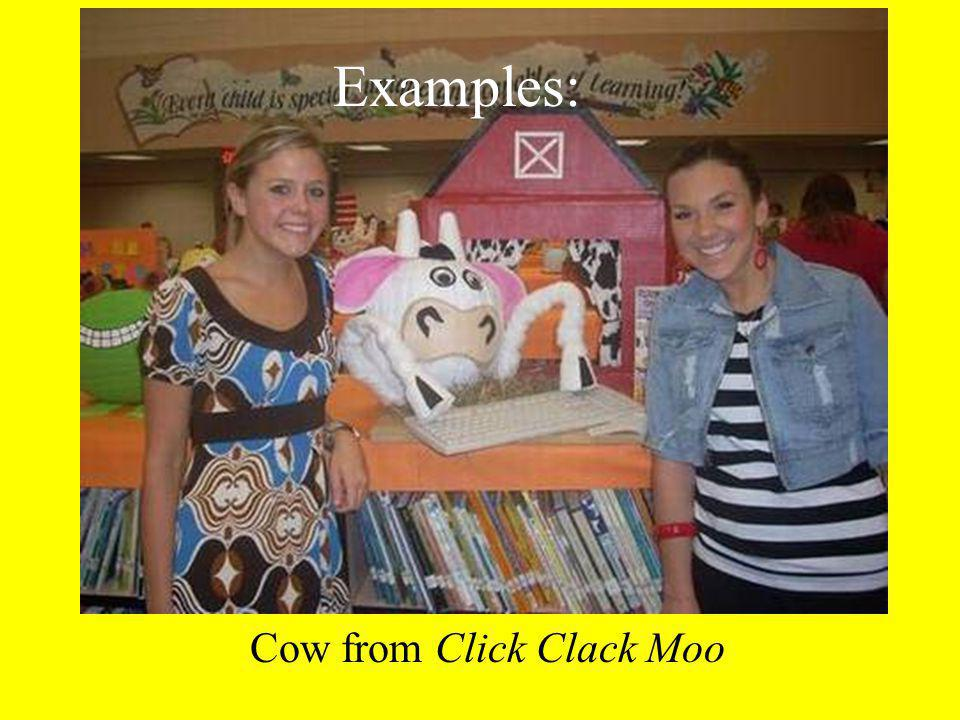 Cow from Click Clack Moo Examples:
