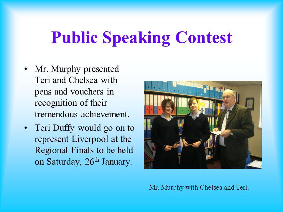 Public Speaking Contest Mr.