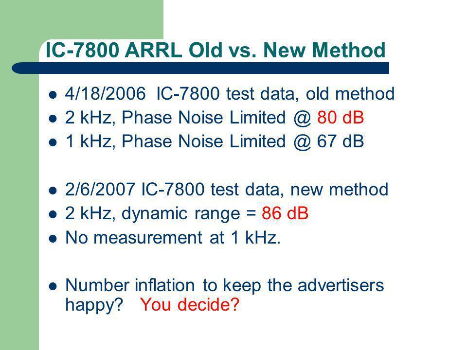 IC-7800 ARRL Old vs.
