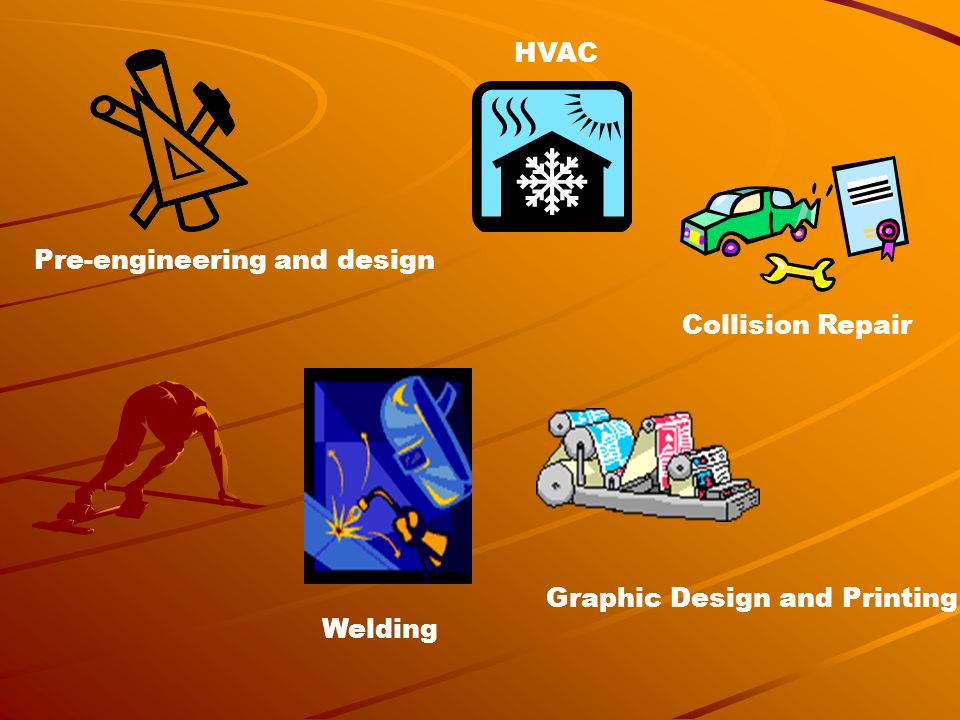 Pre-engineering and design HVAC Collision Repair Welding Graphic Design and Printing