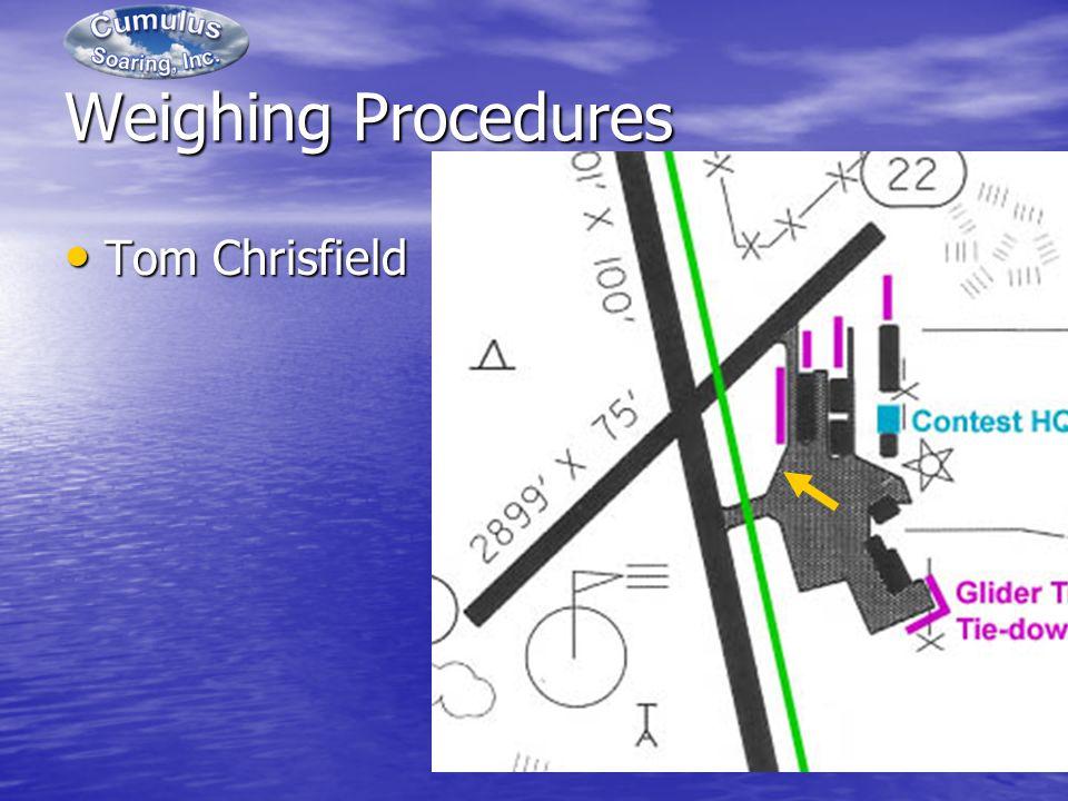 Weighing Procedures Tom Chrisfield Tom Chrisfield