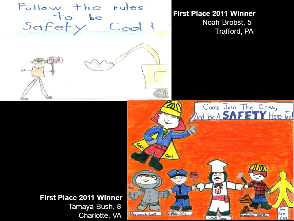 First Place 2011 Winner Tamaya Bush, 8 Charlotte, VA First Place 2011 Winner Noah Brobst, 5 Trafford, PA