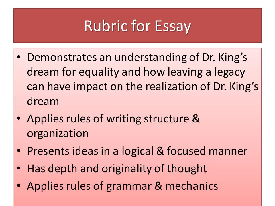 academic essay rules
