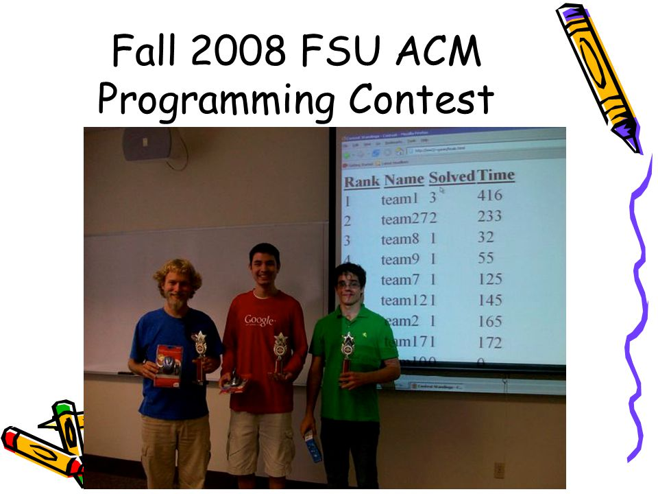 Fall 2008 FSU ACM Programming Contest