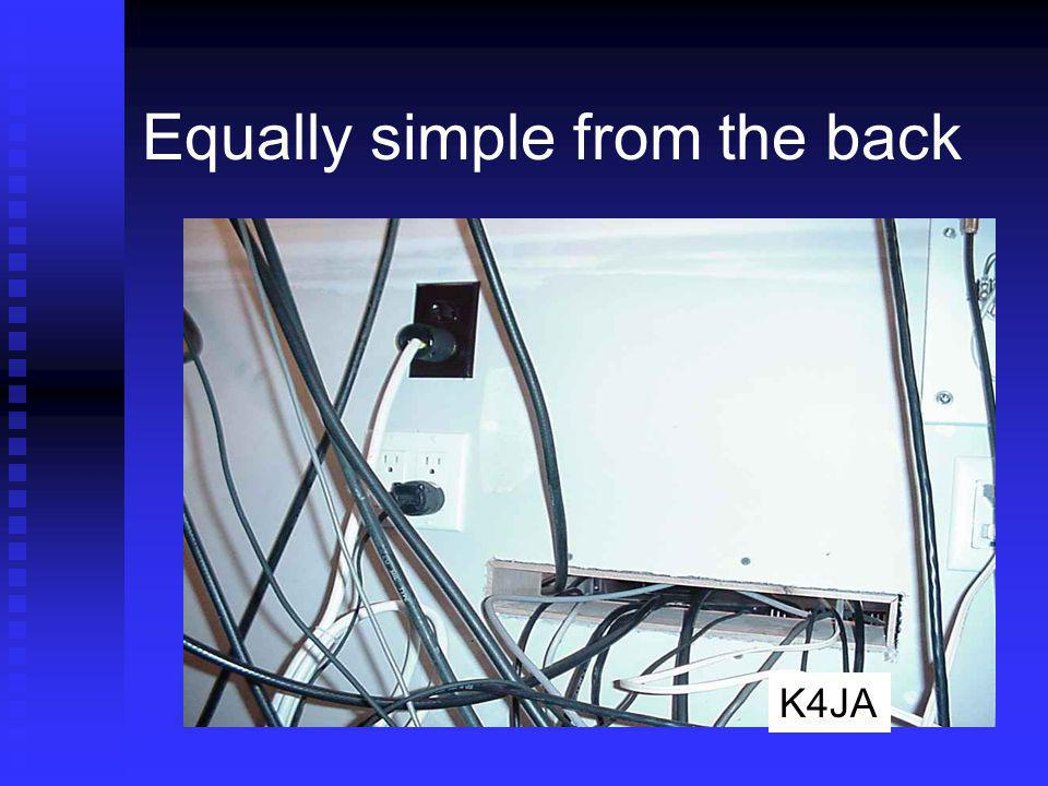 Equally simple from the back K4JA