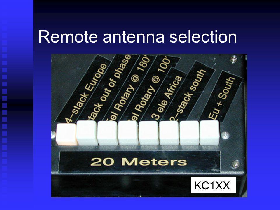 Remote antenna selection KC1XX
