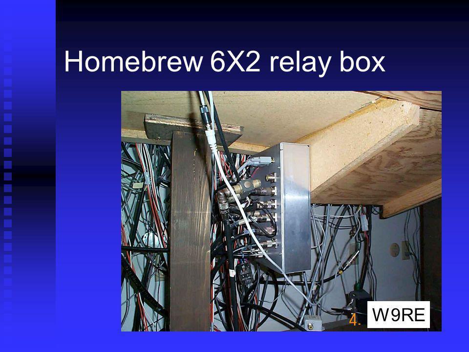 Homebrew 6X2 relay box W9RE
