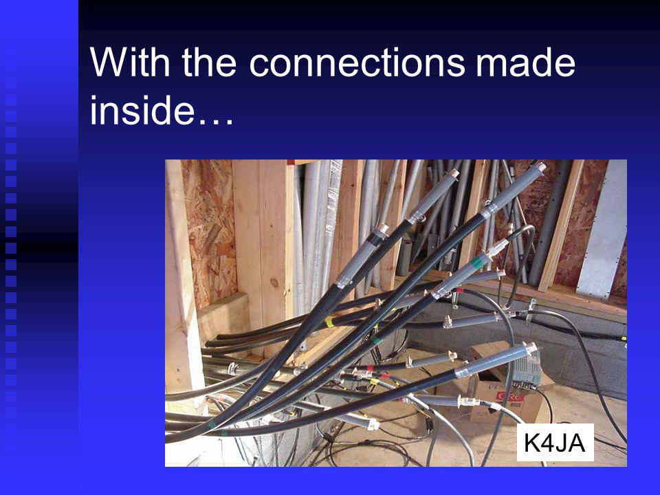 With the connections made inside… K4JA