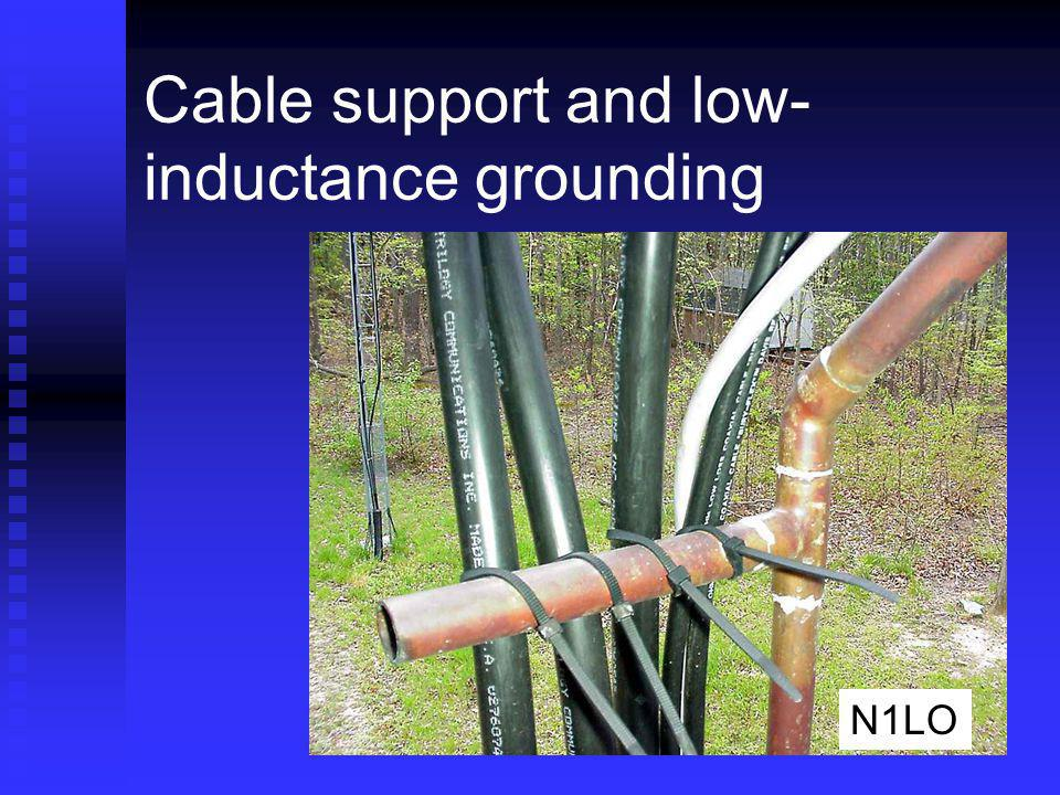 Cable support and low- inductance grounding N1LO