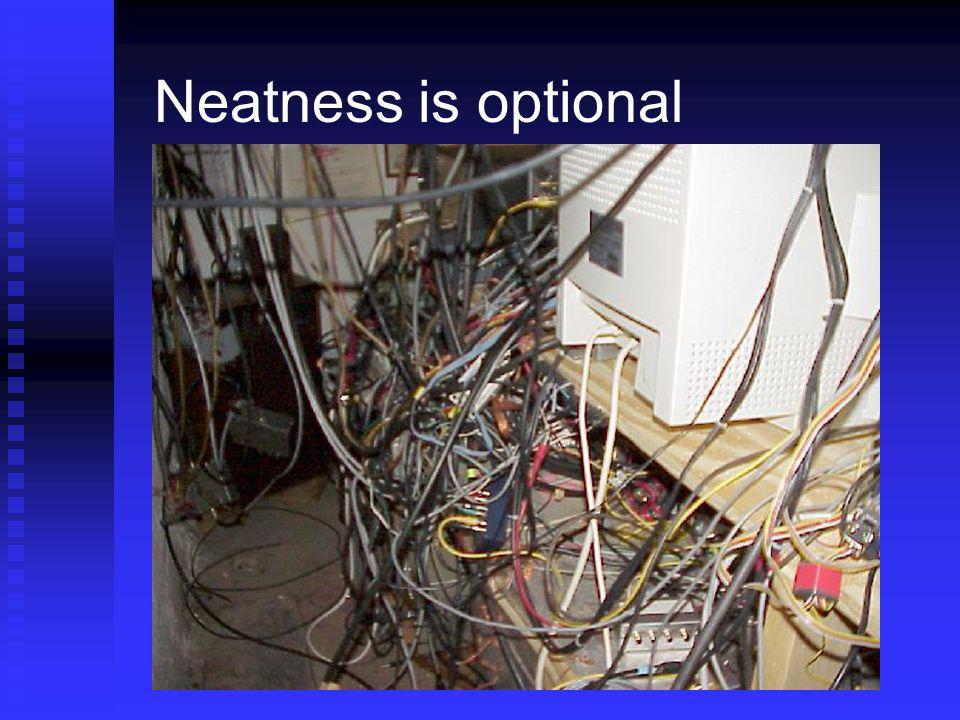 Neatness is optional