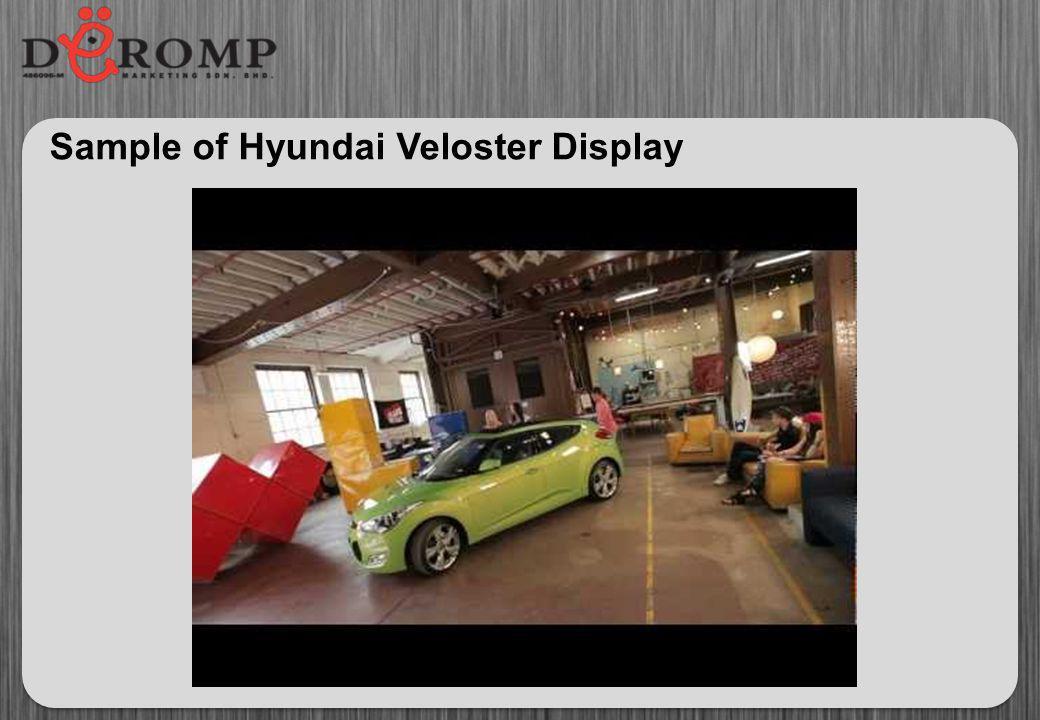 Sample of Hyundai Veloster Display
