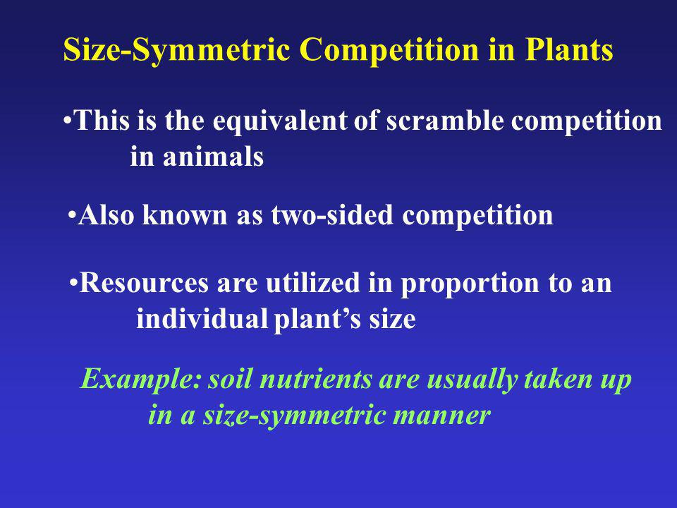 Review Intraspecific competition is characterized by four conditions: 1.Decrease in demographic rates With increasing density 2.A critical resource must be in Limiting supply 3.