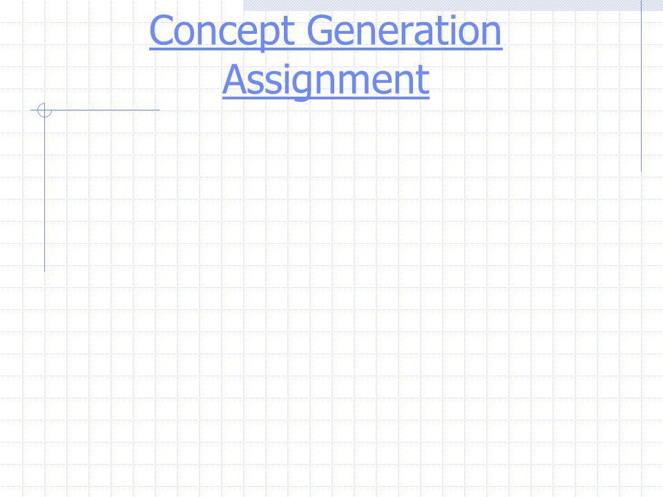 Concept Generation Assignment
