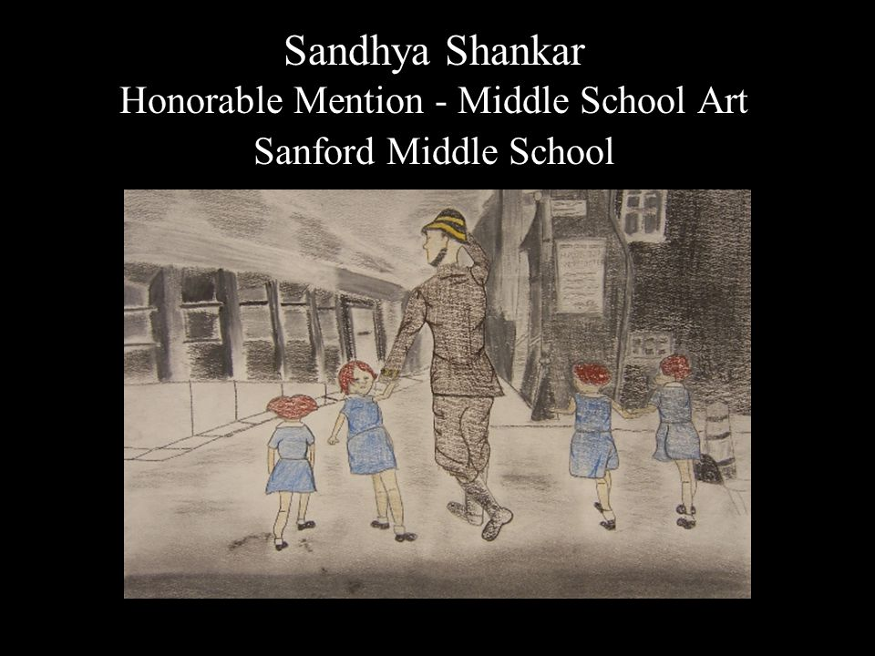 Sandhya Shankar Honorable Mention - Middle School Art Sanford Middle School