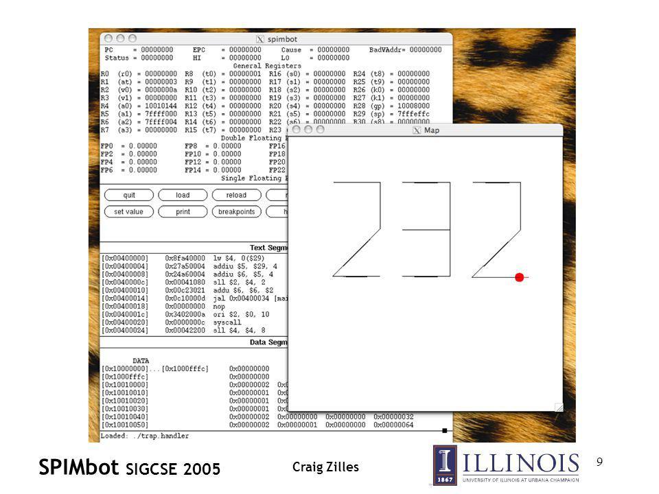 SPIMbot SIGCSE 2005 Craig Zilles 9