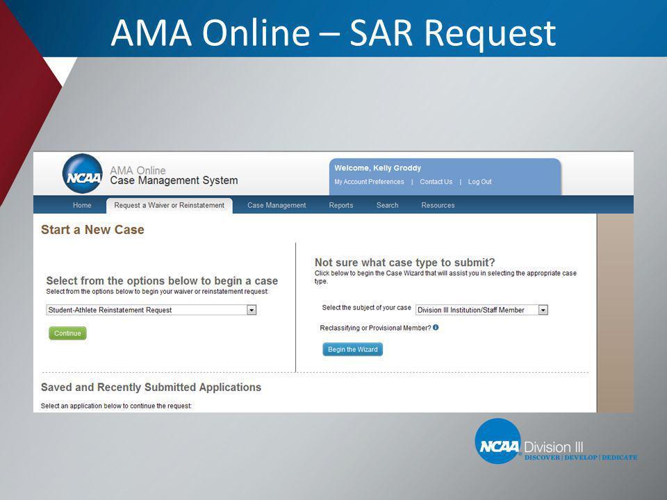 AMA Online – SAR Request