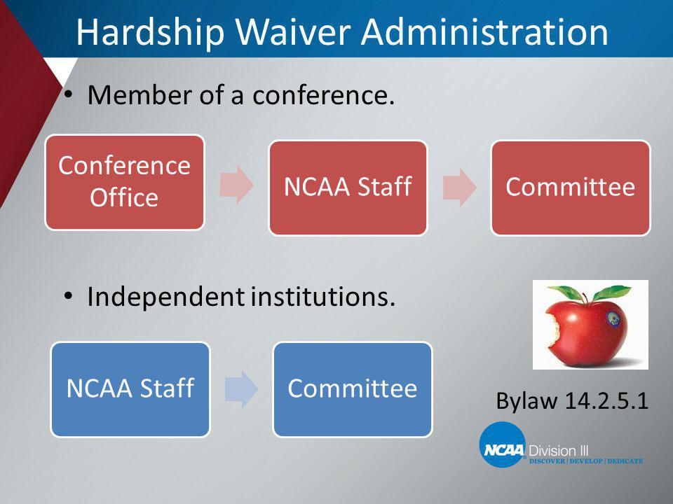Practice After Receipt of Hardship Waiver SA who is granted a hardship waiver may: Practice and/or participate in rehabilitative activities for the remainder of the season without using a season of participation.