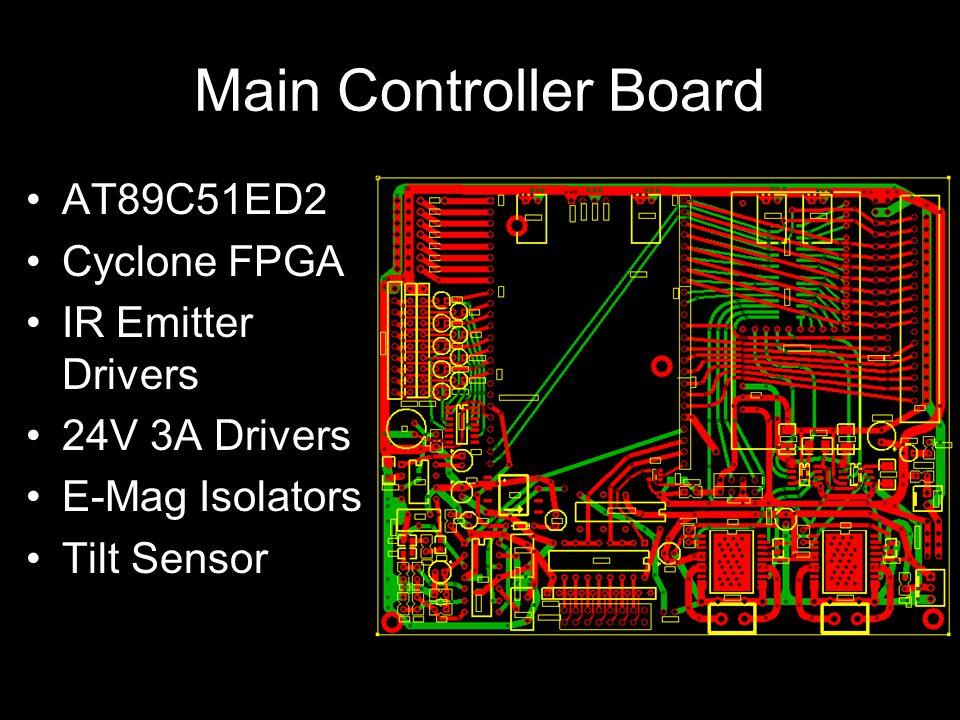 Main Controller Board AT89C51ED2 Cyclone FPGA IR Emitter Drivers 24V 3A Drivers E-Mag Isolators Tilt Sensor