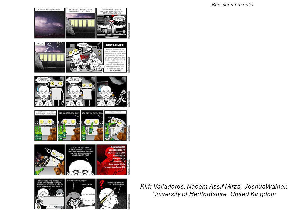 Kirk Valladeres, Naeem Assif Mirza, JoshuaWainer, University of Hertfordshire, United Kingdom Best semi-pro entry