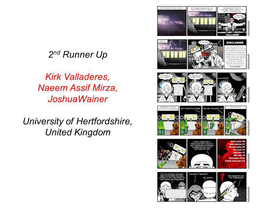 2 nd Runner Up Kirk Valladeres, Naeem Assif Mirza, JoshuaWainer University of Hertfordshire, United Kingdom