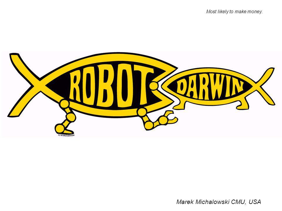 Marek Michalowski CMU, USA Most likely to make money.