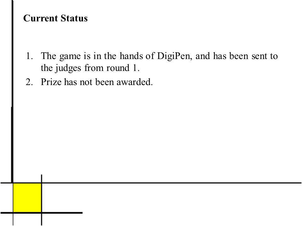 Current Status 1.The game is in the hands of DigiPen, and has been sent to the judges from round 1.