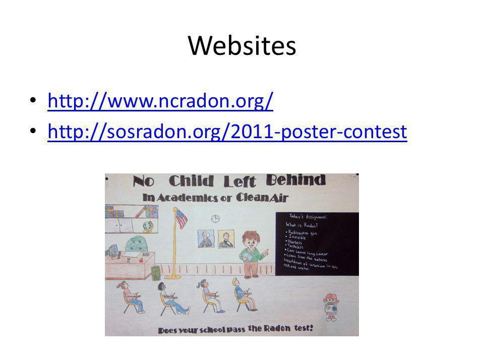 Websites http://www.ncradon.org/ http://sosradon.org/2011-poster-contest