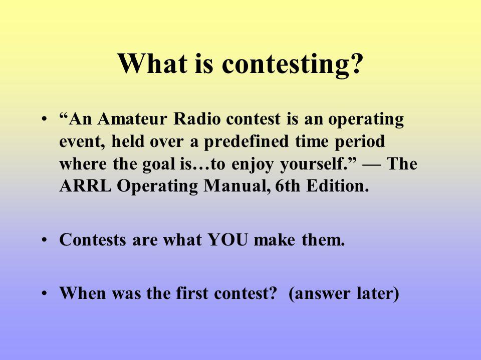 CQ Contest.