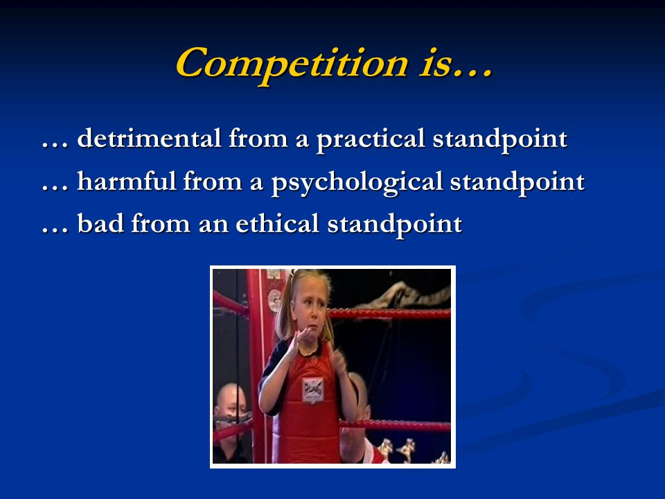 Decompetition is a separate and distinct process from competition.