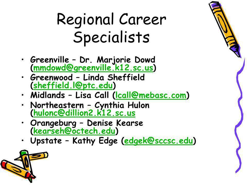 Regional Career Specialists Greenville – Dr.